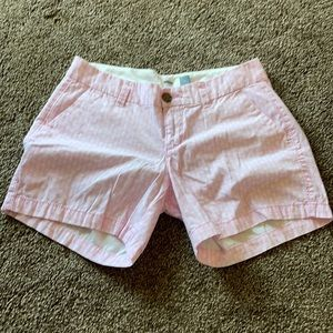 Old Navy pink and white pineapple shorts-0